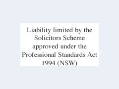 Liability limited